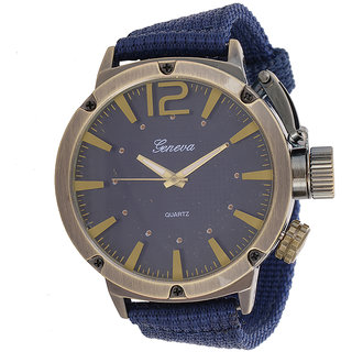 Genva Blue Color Quartz Wrist Watch for Boyz