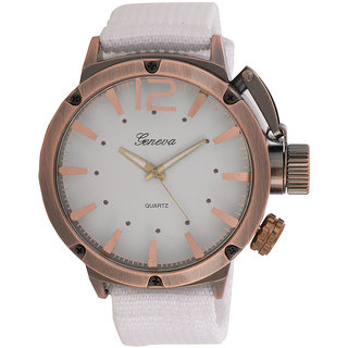 Genva White Color Quartz Wrist Watch for Boyz