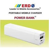 ERD Mobile Powerbank 2600 MAh For Smartphones, Tabs, Mp3 Players, Cameras, Etc.
