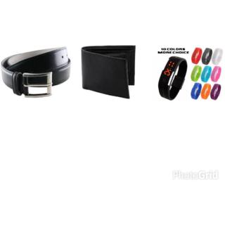 loot kart Combo offer for men stylish led watch belt wallet free key chain