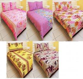 Carah Bed sheet pack of 5 (CRH DB110-113-114-116-416)