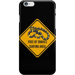 The Fappy Store Surf caution sign Printed Back Cover for iphone 6S