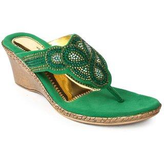 Liberty WomenS Green Casual Slip On Flats (LT-H182-GREEN)