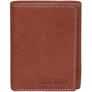 Allure Design Mens Formal Genuine Leather Tan Colour Wallet