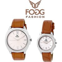Fogg 5029-BR Analog Couple Watches