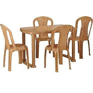 Nilkamal Plastic Dining Table with 4 Chair Set Buy Nilkamal