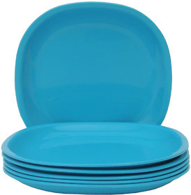 Incrizma - Square Dinner Plate Turquoise Blue -6 Pcs