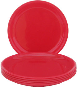 Incrizma - Round Dinner Plate Red -6 Pcs