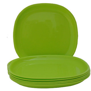 Incrizma - Square Dinner Plate Lime Green -6 Pcs