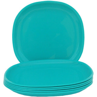 Incrizma - Square Dinner Plate Turquoise Green -6 Pcs
