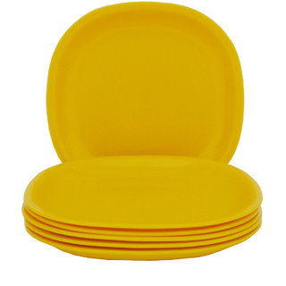 Incrizma - Square Dinner Plate Yellow -6 Pcs