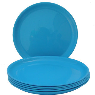 Incrizma - Round Dinner Plate Turquoise Blue -6 Pcs