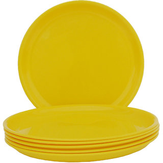 Incrizma - Round Dinner Plate Yellow -6 Pcs