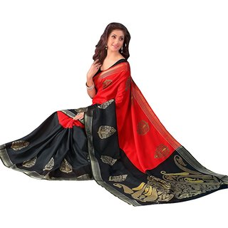 Red And Black Fashionable Saree