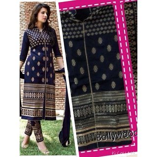 Bollywood Mania Blue Colour Cotton ladies Designer Suit