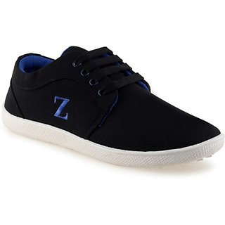 buy new age stylish comfort black blue canvas casual shoe
