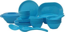 Incrzima - 44 Pcs Dinner Set Round Turquoise Blue - 1501TB