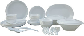 Incrzima 44 Pcs Melamine Dinner Set Round White   1501W