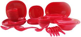 Incrzima - 44 Pcs Dinner Set Square Red - 1551R