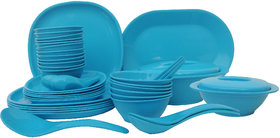 Incrzima - 44 Pcs Dinner Set Square Turquoise Blue - 1551TB