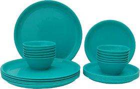 Incrzima   24 Pcs Round Dinner Set  Turquoise Blue
