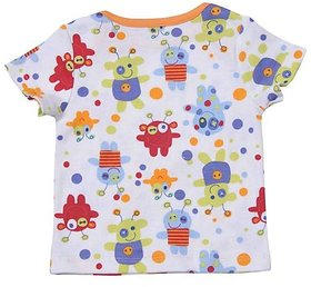 Babysafe Bss2Alien24 Multi-Coloured Cotton Baby-Boys 1 Tshirt Half Sleeve And 1Pant