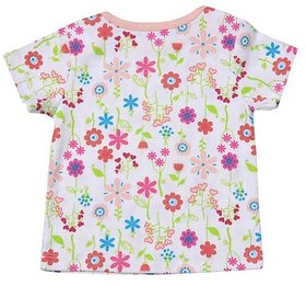 Babysafe Bss2Peachfloral24 Multi-Coloured Cotton Baby-Girls 1 Tshirt Half Sleeve And 1Pant