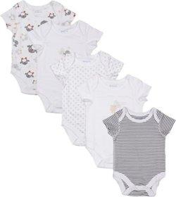 Babysafe Pka002Ss Multi Boys Body Suit(Set Of 5)