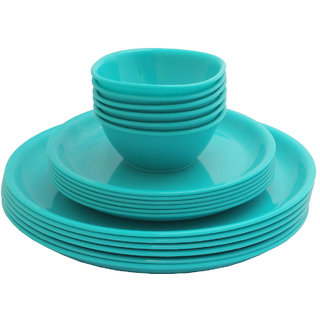 Incrizma 18 Pcs Dinner Set Round Turquoise Green