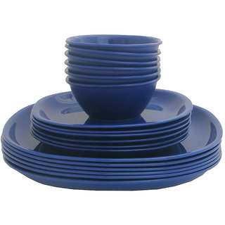 Incrzima - 18 Pcs Square Dinner Set -Navy Blue