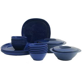 Incrzima - 22 Pcs Square Dinner Set -Navy Blue