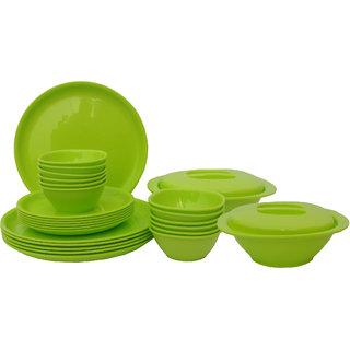 Incrzima - 28 Pcs Dinner Set Round Lime Green - 1301LG