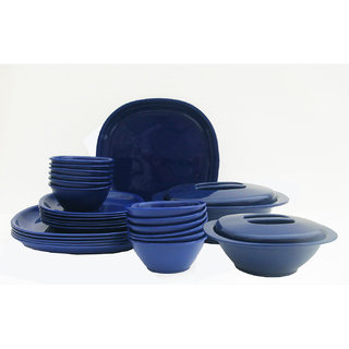Incrzima - 32 Pcs Square Dinner Set -Nany Blue  1451NB