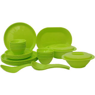 Incrzima - 32 Pcs Dinner Set Round Lime Green - 1401LG