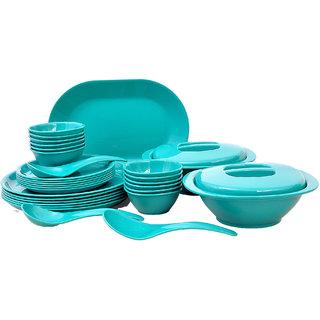 Incrzima - 32 Pcs Dinner Set Round Turquoise Green - 1401TG