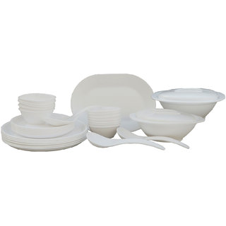 Incrzima - 32 Pcs Dinner Set Round White - 1401W