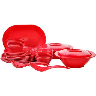 Incrzima - 32 Pcs Dinner Set Square Red - 1451R