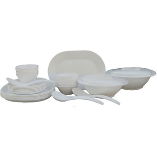 Incrzima - 32 Pcs Dinner Set Square White - 1451W