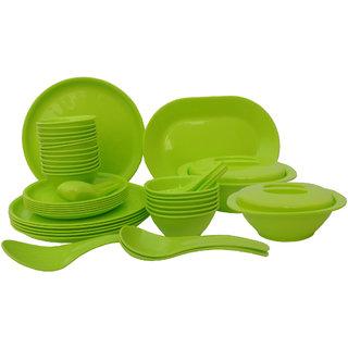 Incrzima - 44 Pcs Dinner Set Round Green - 1501LG