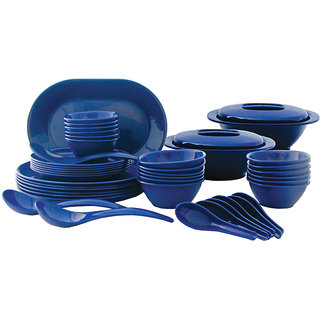 Incrzima - 44 Pcs Round Dinner Set - Navy Blue 1501NB
