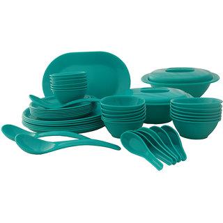 Incrzima - 44 Pcs Dinner Set Round Turquoise Green - 1501TG