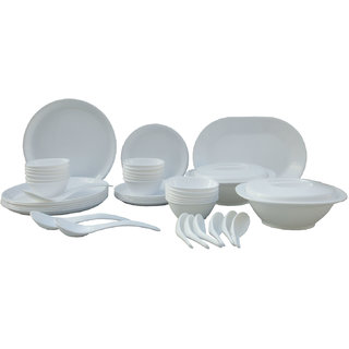 Incrzima - 44 Pcs Dinner Set Round White - 1501W
