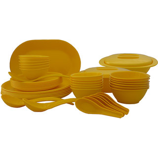 Incrzima - 44 Pcs Dinner Set Round Yellow - 1501Y