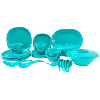Incrzima - 44 Pcs Dinner Set Square Turquoise Green - 1551TG