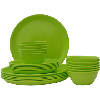 Incrzima - 24 Pcs Round Dinner Set - Lime Green