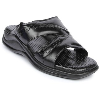 Liberty MenS Black Casual Slip On Sandals (2013-83WT-BLACK)