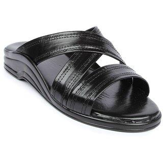Liberty MenS Black Casual Slip On Sandals (7123-61WT-BLACK)