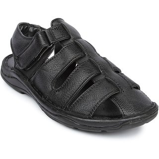 Liberty MenS Black Casual Slip On Sandals (LOM-B12-BLACK)