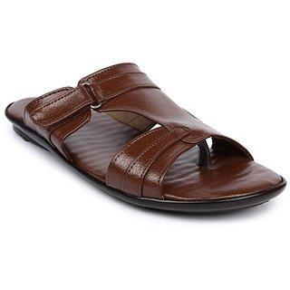 Liberty MenS Tan Casual Slip On Sandals (ORTIZ-04-TAN)