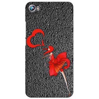 Snooky Digital Print Hard Back Case Cover For Micromax Canvas Fire 4 A107 82095